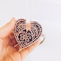 Wooden Block Stamps - Pink