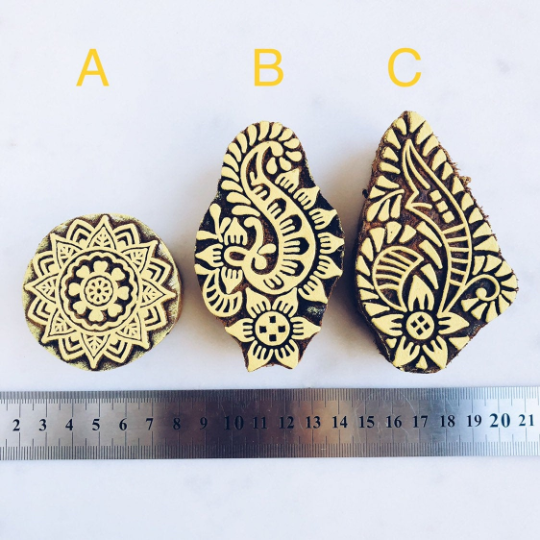 Wooden Block Stamps - Yellow
