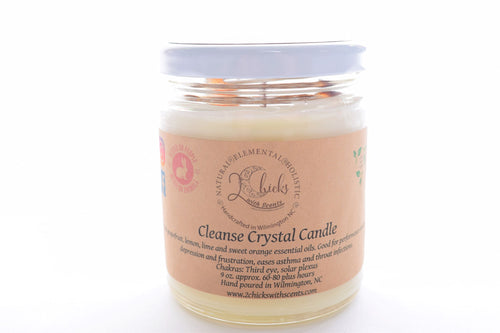 Cleanse Crystal Candle