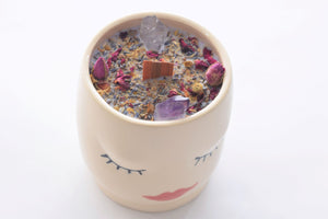 Slumber Pottery Crystal Candle