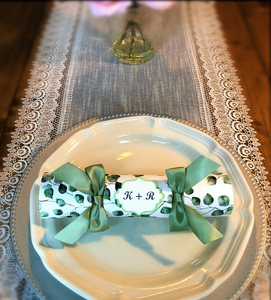 wedding cracker, eucalyptus wedding favour