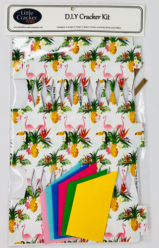 Do it yourself (DIY) Cracker kit pineapples & flamingos