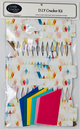 Do it yourself (DIY) Cracker kit rainbow triangles boho