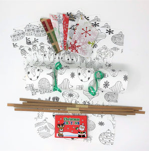 Colour Your Own Christmas Crackers kit DIY