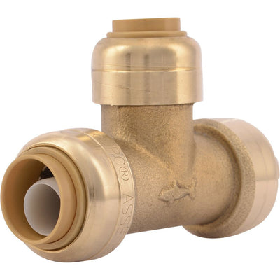 "SharkBite® U363LF Lead-Free Brass Push-to-Connect Reducing Tee - 1/2"" x 1/2"" x 3/8"""