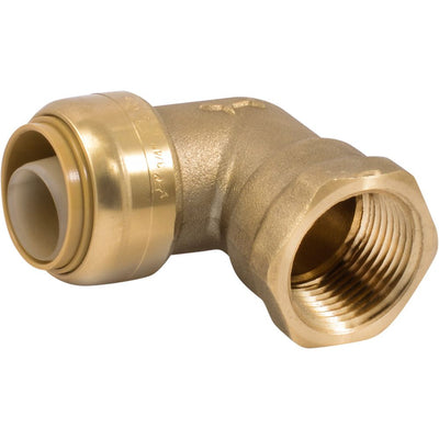 "SharkBite® U314LF Lead-Free Brass Push-to-Connect Female Elbow - 3/4"" x 3/4"" FPT"