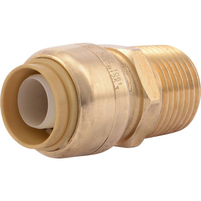 "SharkBite® U120LF Lead-Free Brass Push-to-Connect Male Adapter - 1/2"" x 1/2"" MPT"
