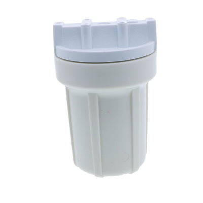 "Watts FH500WW14 5"" Water Filter Housing 1/4 White Sump No PR - 1/4"" FPT"