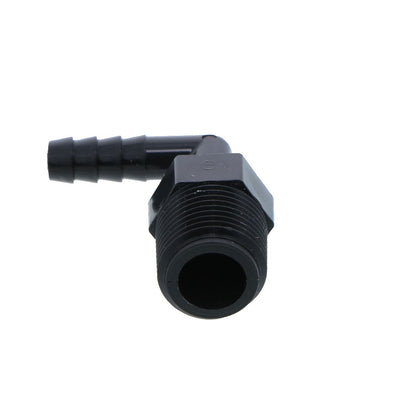 Male Elbow Barb Connector PP - 1/4 ID Barb x 3/8 MNPT