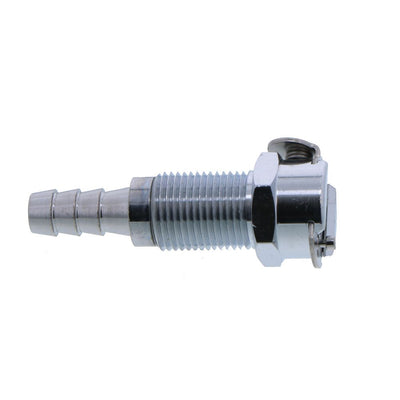 MC1604 Panel Mount Hose Barb Coupling Body 1/4 ID Barb