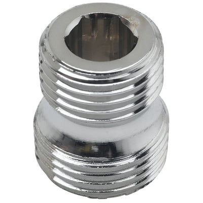 "T&S Brass 055A Male Adapter 1/2"" NPT x 3/4-14Un Male"