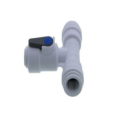 John Guest Acetal Angle Stop Valve w/Check Valve - 15mm x 15mm x 3/8""