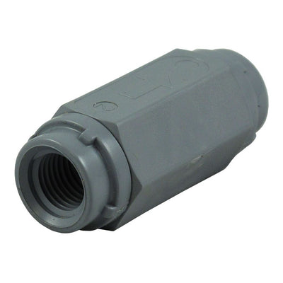 "Check Valve 426 Series PVC Gray 1/4"" FPT BUNA"