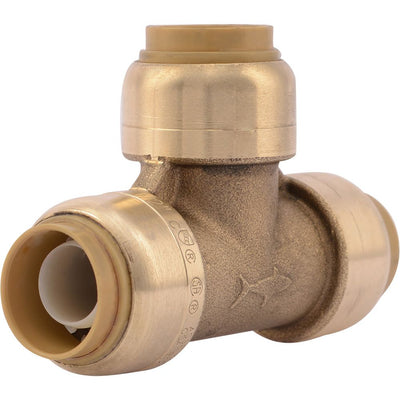"SharkBite® U362LF Lead-Free Brass Push-to-Connect Tee - 1/2"" x 1/2"" x 1/2"""