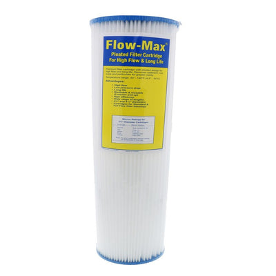 "10"" × 4-1/2"" BB Flow-Max Pleated - 1 Mic Filter"