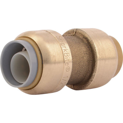 "SharkBite® U4008LF Lead-Free Brass Push-to-Connect Polybutylene Transition Coupling - 1/2"" PB x 1/2"""