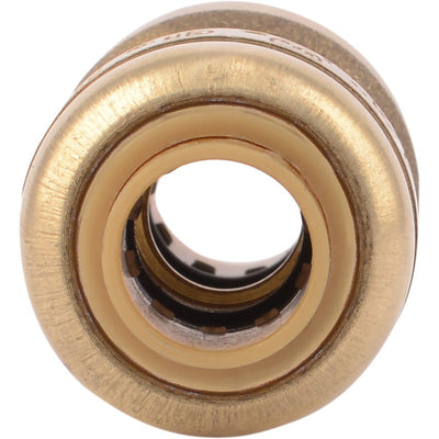 "SharkBite® U004LF Lead-Free Brass Push-to-Connect Coupling - 1/4"" x 1/4"""