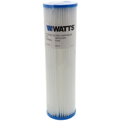"9-3/4"" x 2-3/4"" Flow-Max Pleated Poly - 5 mic"