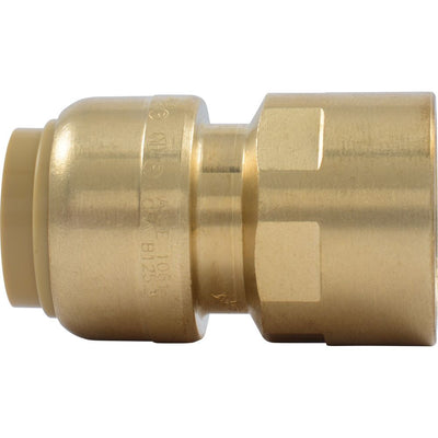 "SharkBite® U072LF Lead-Free Brass Push-to-Connect Female Adapter - 1/2"" x 1/2"" FPT"