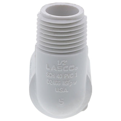 "Schedule 40 PVC Street Elbow 1/2"" FPT x 1/2"" MPT"