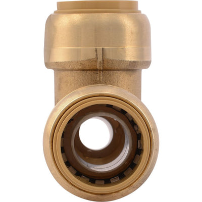 "SharkBite® U444LF Lead-Free Brass Push-to-Connect Reducing Tee - 3/4"" x 1/2"" x 3/4"""