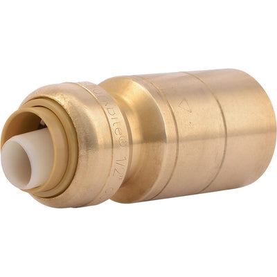 "SharkBite® U722LF Lead-Free Brass Push-to-Connect Reducing Stem - 1/2"" x 1"" CTS"