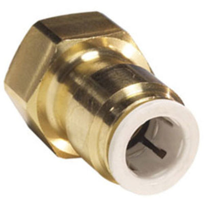 John Guest Lead Free Brass Flare Female Connector - 3/8 x 3/8 FFL
