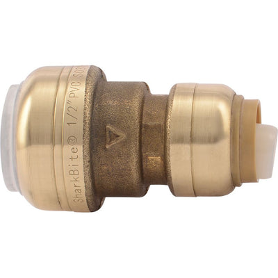"SharkBite® UIP4008 Push-to-Connect Brass PVC Transition Coupling - 1/2"" PVC x 1/2"" CTS"