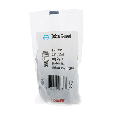 John Guest Male Connector Flare - 3/8 x 1/2 Flare