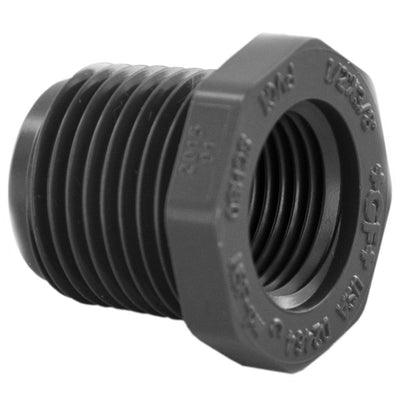 "Schedule 80 PVC Bushing 3/4"" Insert x 3/4"" FPT"