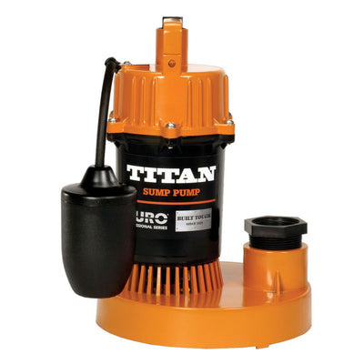 Titan Basement Submersible Sump Pump 1/2 HP - Tethered Float