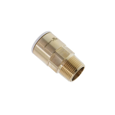 John Guest Lead-Free Brass Male Connector NPT - 3/4 CTS x 3/4 NPT