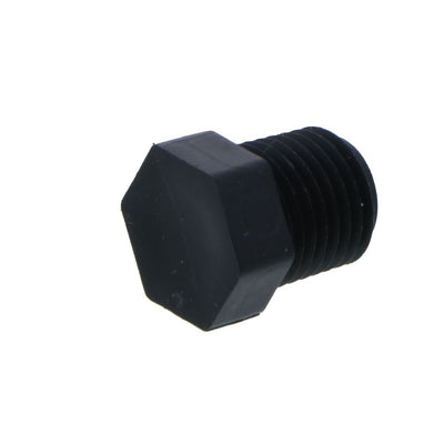 "Pipe Plug Hex Head - 1/4"" NPT Polypro Black"