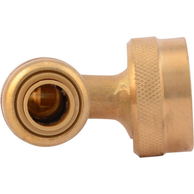 "SharkBite® U2276LF Lead-Free Brass Push-to-Connect Dishwasher Elbow - 1/4"" x 3/4"" GHT"