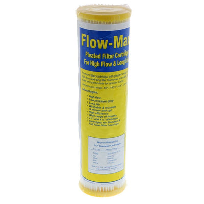 "9-3/4"" x 2-3/4"" Flow-Max Pleated Poly - 50 mic"