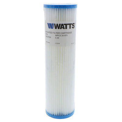 "9-3/4"" x 2-3/4"" Flow-Max Pleated Poly - 0.35 mic"