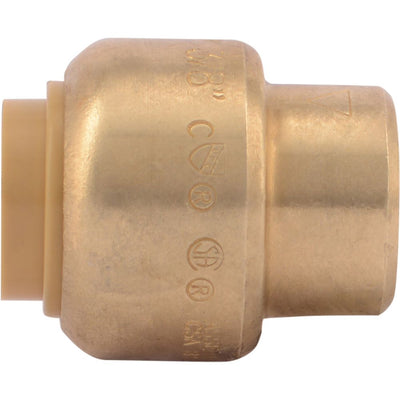 SharkBite® U512LF Lead-Free Brass Push-to-Connect End Stop - 3/8""