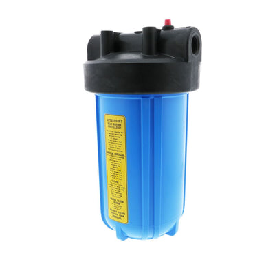 "Watts Flowmatic 10"" Full Flow Water Filter Housing Black/White W/ PR"