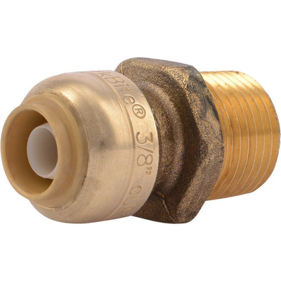 "SharkBite® U118LF Lead-Free Brass Push-to-Connect Male Adapter - 3/8"" x 1/2"" MPT"