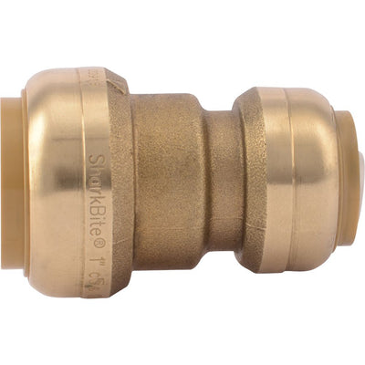 "SharkBite® U060LF Lead-Free Brass Push-to-Connect Reducer Coupling - 1"" x 3/4"""