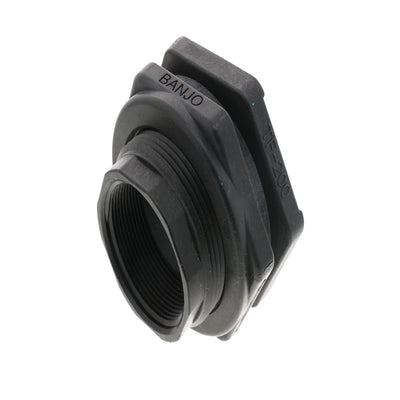 "2.00"" Polypropylene Bulkhead Tank Fitting with EPDM Gaskets"