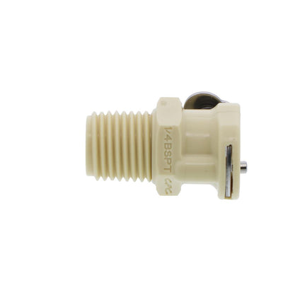 PMCD100412BSPT Valved Male Thread Coupling Body 1/4 BSPT