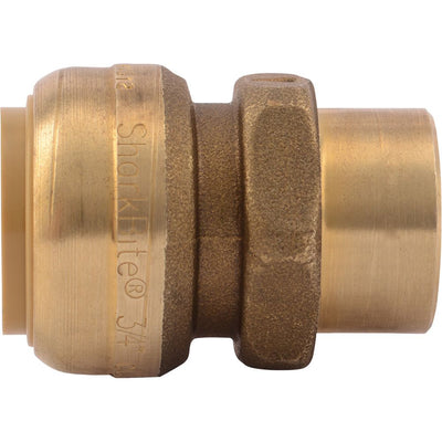 "SharkBite® U092LF Lead-Free Brass Push-to-Connect Female Adapter - 3/4"" x 1/2"" FPT Bullnose"