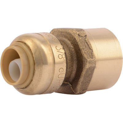 "SharkBite® U070LF Lead-Free Brass Push-to-Connect Female Adapter - 3/8"" x 1/2"" FPT"