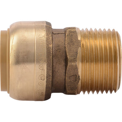 "SharkBite® U134LF Lead-Free Brass Push-to-Connect Male Adapter - 3/4"" x 3/4"" MPT"