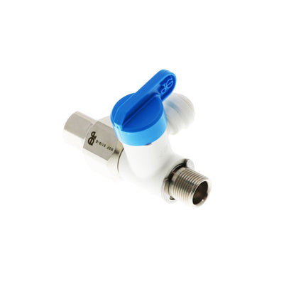 John Guest Angle Stop Adapter Valve - 1/2 x 3/8 x 1/4