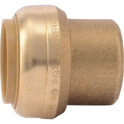 SharkBite® U520LF Lead-Free Brass Push-to-Connect End Stop - 1""