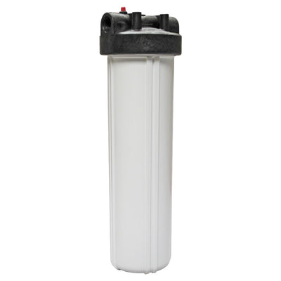 "Watts Flowmatic 20"" Full Flow Water Filter Housing Black/White W/ PR"