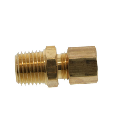 Brass Male Connector 1/4 Compression x 1/4 NPT