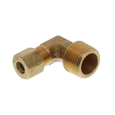 Brass Compression Male Elbow -1/4 Compression x 3/8 MPT